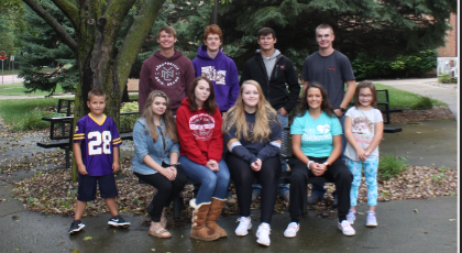 2019-20 Homecoming Royalty:  Front Row: Grady, Megan, Jasmine, Hannah, Tori, Ainsley Back Row:  Hunter, Dallas, Hayden, Blake