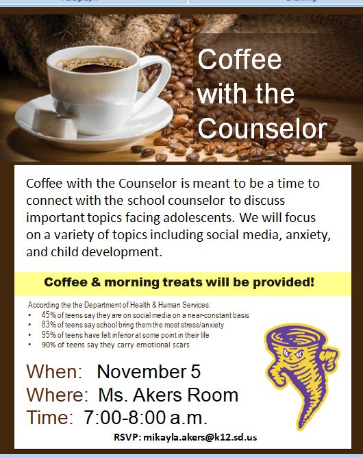 Coffee with counselor